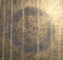 Rondo Weave: Lavender Blue.Encaustic Painting.