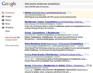 Google Search Page Clip